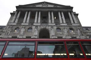Bank of England, in London's City financial district. AP