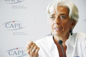 A file photo of IMF managing director Christine Lagarde.