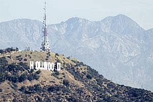 The Hollywood sign stands above Los Angeles (Bloomberg)