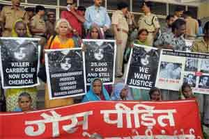 A file photo of Bhopal Gas Tragedy protestors