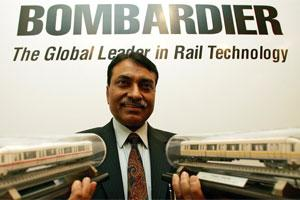 A file photo of MD of Bombardier Transportation India Ltd, Rajeev Jyoti