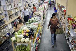 A file photo of a grocery store in Hyderabad. (AP)