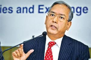 Careful approach: Sebi chairman U.K. Sinha says Sebi will be cautious in clearing new products if they are perceived as risky. Photo: Abhijit Bhatlekar/Mint
