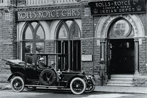 Continuing legacy: A Silver Ghost outside Rolls-Royce's Indian depot. Photographs by Rolls-Royce