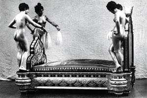 Dream theatre: Silver bed, with life-size nudes, made for the Nawab of Bahawalpur by Christofle in 1882.