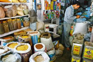 Price factor: A file photo of a grocery store. Price increases effected by consumer product makers to offset rising raw material and other costs, too, are pinching consumers. By Mint