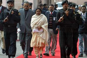 A file photo of Uttar Pradesh chief minister Mayawati.