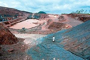 Court ruling: A deserted iron ore mine in Karnataka.(Aniruddha Chowdhury/Mint)