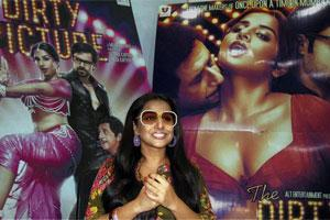 "Vidya Balan promoting her new film ""The Dirty Picture"". Photo: PTI"