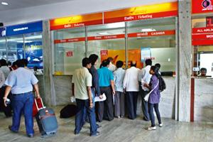 Aggressive pricing: Air India's economy-class passengers can upgrade to business class by paying Rs 4,000 for distances up to 750km and Rs 6,000 for longer distances at the counters in 17 airports . B