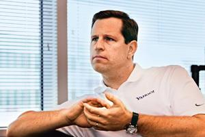 Facing challenges: A 2010 photo of Yahoo acting CEO, Tim Morse, who is meeting more frequently with top managers than his predecessor did. By Bloomberg