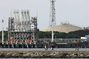 Liquefied-natural-gas ( LNG) tanks are seen. Photo: Bloomberg