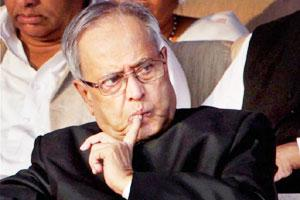 A file photo of finance minister Pranab Mukherjee.