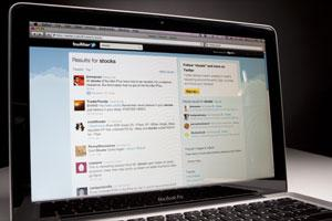 Where the world blogs: A Twitter page. Photo: Bloomberg