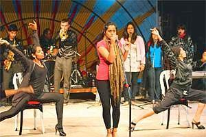 Tuned in: Shahana Goswami sings her own songs in the musical.