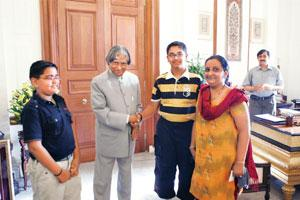 For the country: Gawde (left) with A.P.J. Abdul Kalam in 2006.