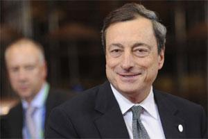ECB president Mario Draghi at EU Summit in Brussels. Photo: AP