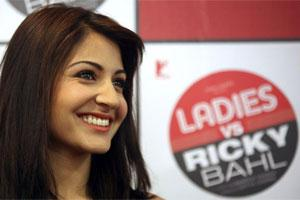 "Anushka Sharma smiles during a news conference for her upcoming movie ""Ladies Vs Ricky Bahl"". Photo: Reuters"