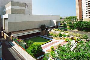 Culture abode: The Sunken Garden next to the NCPA's music library. Photograph courtesy NCPA