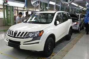 Finishing touch: An XUV500 at M&M's Chakan plant in Pune. M&M is in the process of doubling production capacity at the plant to 4,000 units a month.