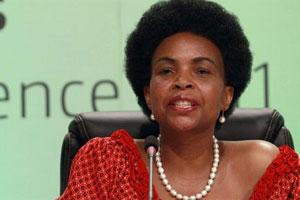 South African international foreign affairs minister and chair of COP17 Maite Nkoana-Mashabane. Photo: AFP