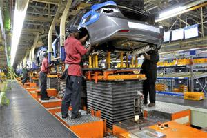 File Photo of Assembly team members assisting in the chassis marriage of a 2011 Hyundai Sonata at the Hyundai Motor Manufacturing Alabama (HMMA) plant in Montgomery, Alabama, US. Bloomberg.