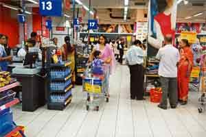 A file photo of a supermarket
