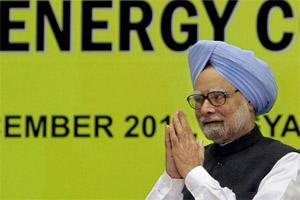 "Prime Minister Manmohan Singh at the ""National Energy Conservation Day"" function in New Delhi on Wednesday. PTI"