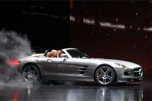 A Mercedes-Benz SLS AMG Roadster. Photo: Bloomberg