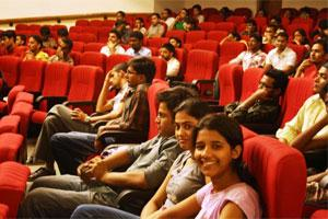 Audience at a screening at the Delhi chapter of the Enlighten Film Society