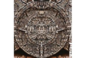 Infinite time: An Aztec stone clock of spirals. Wikimedia Commons