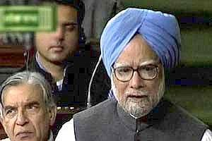 Prime Minister ManmohanSingh speaks during the discussion on Lokpal Bill in Lok Sabha in New Delhi on Tuesday (PTI)