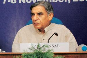 A file photo of parliamentary affairs minister P. K. Bansal.