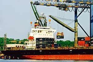 Capacity constraints: A ship docked at the Jawaharlal Nehru Port in Navi Mumbai.