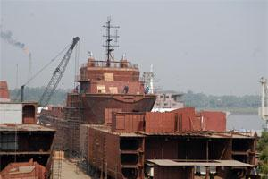 A file photo of a shipyard