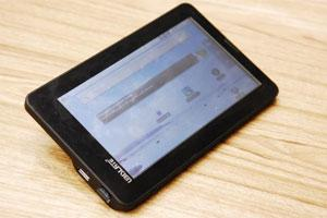 Shock test: The Aakash tablet.