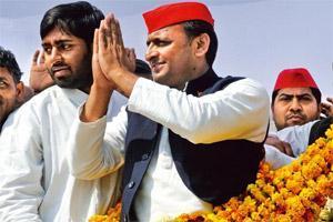 Campaign trail: Akhilesh Yadav at a rally in Faizabad, Uttar Pradesh. Photo by