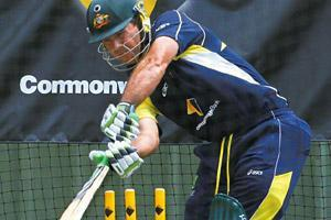 Shown the door: Ricky Ponting. By Tony Ashby/AFP
