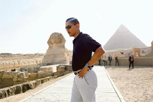 Cultural convergence: US President Barack Obama in Egypt in 2009. Pete Souza/The White House/Getty Images