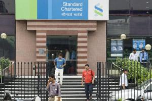Standard Chartered Bank at South Extension, New Delhi. Photo by Madhu Kapparath.