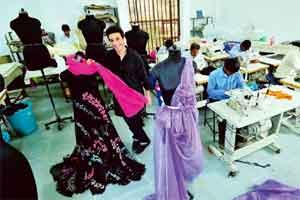 Mr Nice Guy: Suneet Varma working on his collection at his factory in Noida. Photo: Priyanka Parashar/Mint