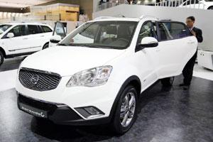 File photo of Ssangyong Motor Co.'s Korando C sport utility vehicle at the Seoul Motor Show in Goyang. Bloomberg