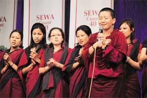 Members of Sewa Nepal at the celebration in April. Photo courtesy Samir Pathak.