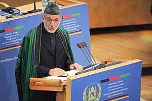 A file photo of Afghan President Hamid Karzai