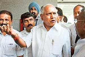 Tough talk: A 2010 photo of B.S. Yeddyurappa. (HT)