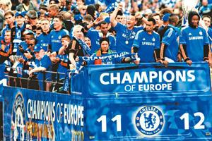 Long-awaited: Chelsea won their first Champions League on Saturday. By Leon Neal/AFP