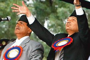 Consensus elusive: Nepal's Prime Minister Baburam Bhattarai (right) and Nepal's President Ram Baran Yadhav during a function to observe Nepal's Fifth Republic Day, in Kathmandu, on Monday. By AP Photo