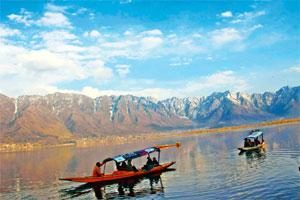 Favoured destination: A file photo of tourists in Srinagar. Destinations such as Kashmir, Leh, Ladakh and Sikkim, which thrive on foreign tourists in a normal year, are seeing a spurt in Indian travel