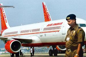 Special flights: A file photo of an Air India plane at the Mumbai airport. Photo: Indranil Mukherjee/AFP