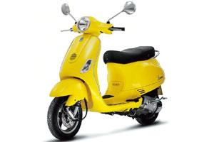 Sunshine: Despite its small size, the Vespa is comfortable to ride